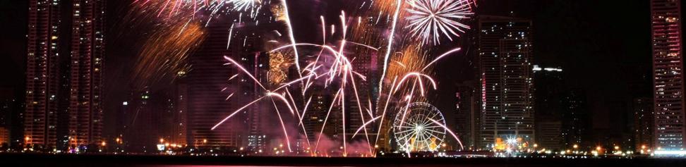 Al Qasba marks the New Year with dazzling fireworks